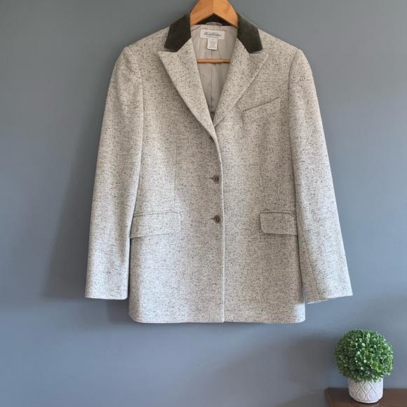 Brooks Brothers Italian Wool Tweed Blazer Jacket 8